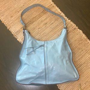 The Original HOBO Light Blue Leather Shoulder Bag